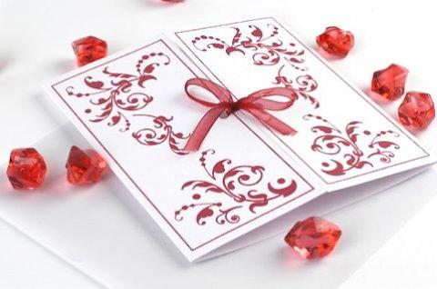 Свадебное пригласительное в виде открытки