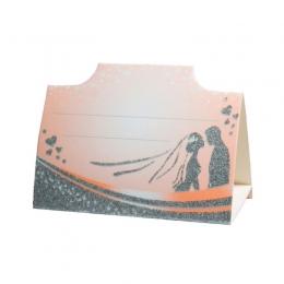 Рассадочная карточка персикового цвета (арт. PC-27) | Рассадочные карточки, купить в Киеве